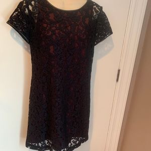 Club Monaco lace and leather dress
